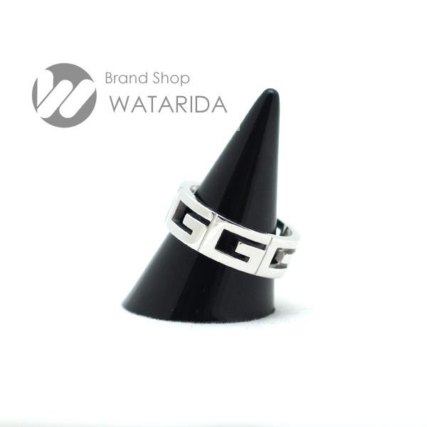 川崎の質屋 渡田質店 グッチ 指輪 マルチプル G ロゴ リング 750WG 17号 送料無料 のご紹介です。
