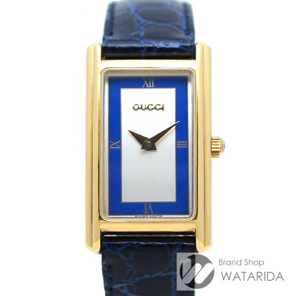 川崎の質屋 渡田質店 グッチ 腕時計 2600L GP Qz レザー ブルー 箱付 送料無料 のご紹介です。
