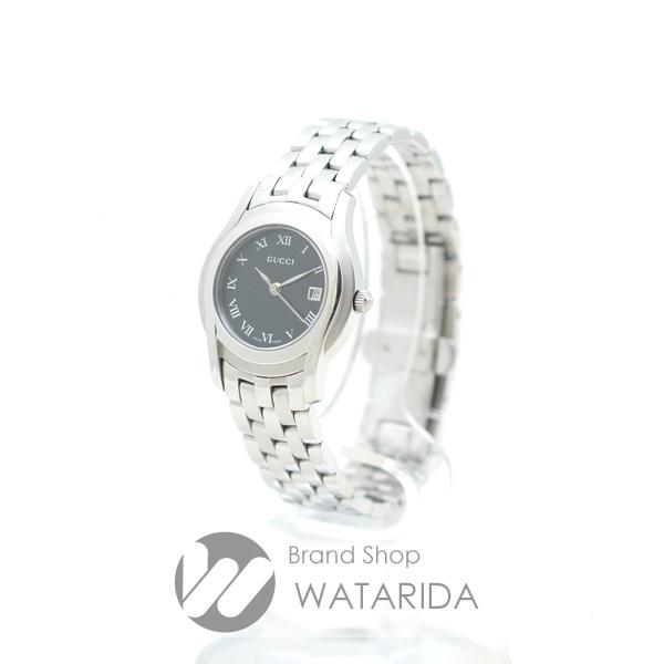 川崎の質屋 渡田質店 グッチ 腕時計 5500L Qz SS 黒文字盤 箱・保付 送料無料 のご紹介です。