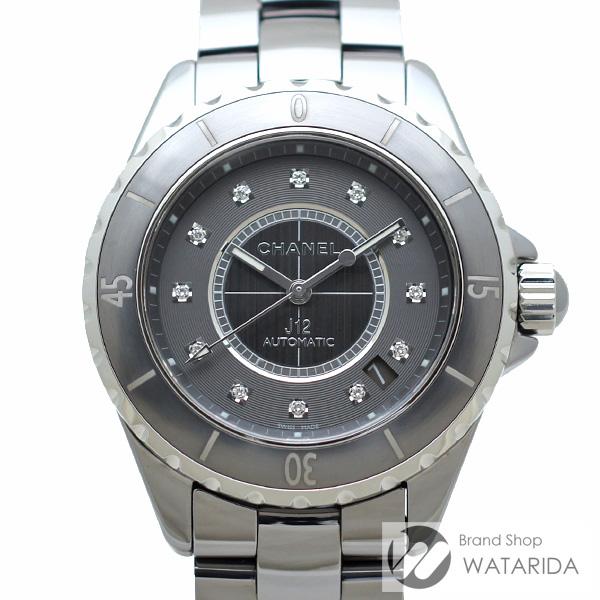 川崎の質屋 渡田質店 シャネル 腕時計 J12 クロマティック 12Pダイヤ H3242 チタンセラミック グレー文字盤 箱・保付 送料無料 のご紹介です。