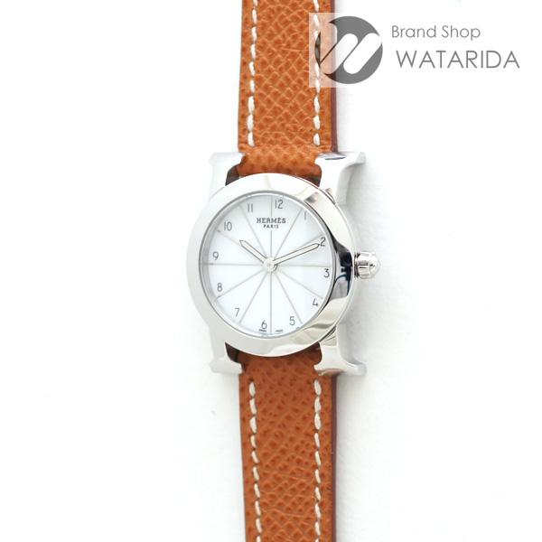 川崎の質屋 渡田質店 エルメス 腕時計 Hウォッチ ロンド HR1.210 SS 白文字盤 □M刻 箱・保付 送料無料 のご紹介です。