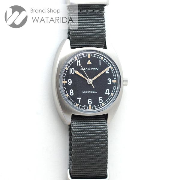 川崎の質屋 渡田質店 ハミルトン 腕時計 カーキ アビエーション Pilot Pioneer Mechanical H76419931 SS 黒文字盤 ナイロンベルト 箱・保付 未使用品 送料無料 のご紹介です。
