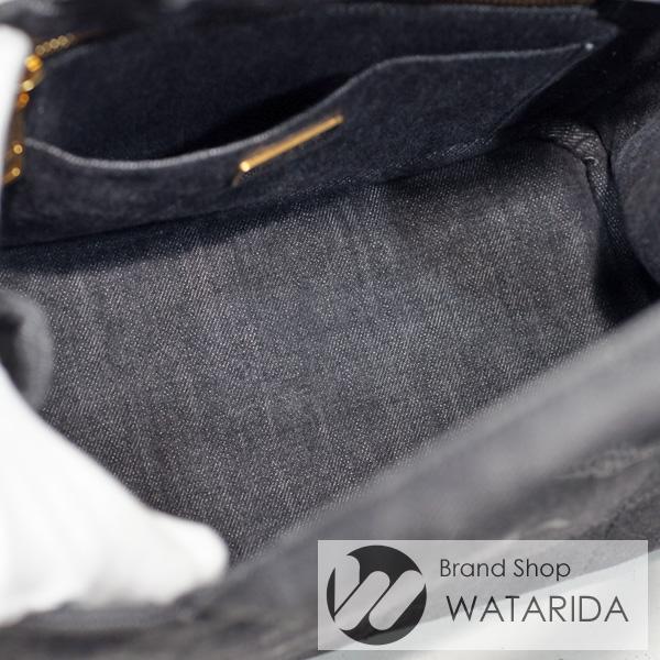 川崎の質屋 渡田質店 プラダ バッグ カナパ ミニ デニム トート 1BG439 2ウェイ 2WAY ネロ ブラック 保存袋・カード付 送料無料 のご紹介です。