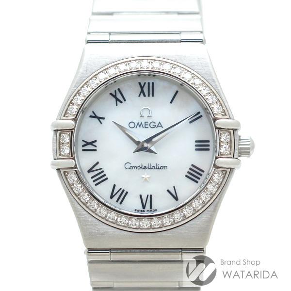川崎の質屋 渡田質店 オメガ OMEGA 腕時計 コンステレーション 1476.61 SS ダイヤモンドベゼル シェル文字盤 Qz レディース フェルトケース付 送料無料 のご紹介です。