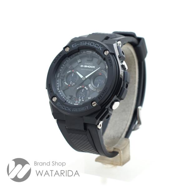 川崎の質屋 渡田質店 カシオ 腕時計 GーSTEEL GST-W100G SS ラバー ブラック 送料無料 のご紹介です。