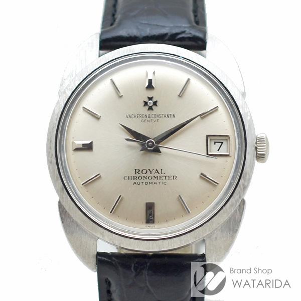 川崎の質屋 渡田質店 ヴァシュロン コンスタンタン 腕時計 クロノメーター ロワイヤル 6694 K1072 18KWG シルバー文字盤 社外ベルト・尾錠 バットマン 送料無料 のご紹介です。