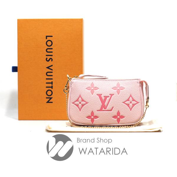 川崎の質屋 渡田質店 ルイヴィトン ポーチ ミニポシェット アクセソワール M80501 ピンク 箱・保存袋付 送料無料 のご紹介です。