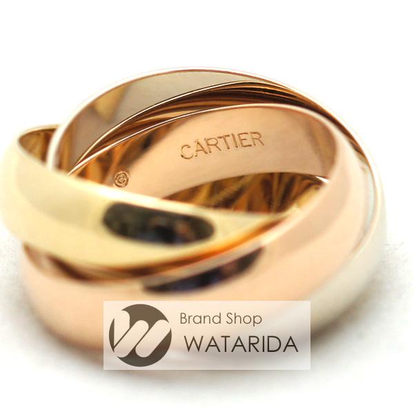川崎の質屋 渡田質店 カルティエ Cartier 指輪 トリニティリング LM 750YG 750PG 750WG #55 国内15号 幅5mm レディース 送料無料 のご紹介です。