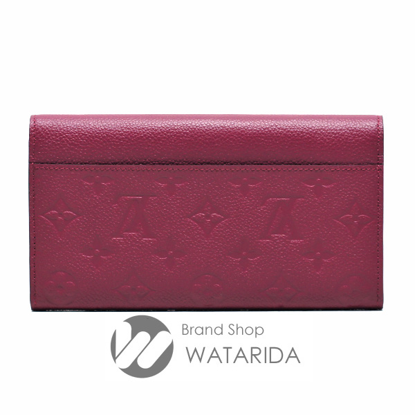 川崎の質屋 渡田質店 ルイヴィトン Louis Vuitton 財布 ポルトフォイユ・サラ M62213 モノグラム・アンプラント レザン 未使用品 送料無料 のご紹介です。