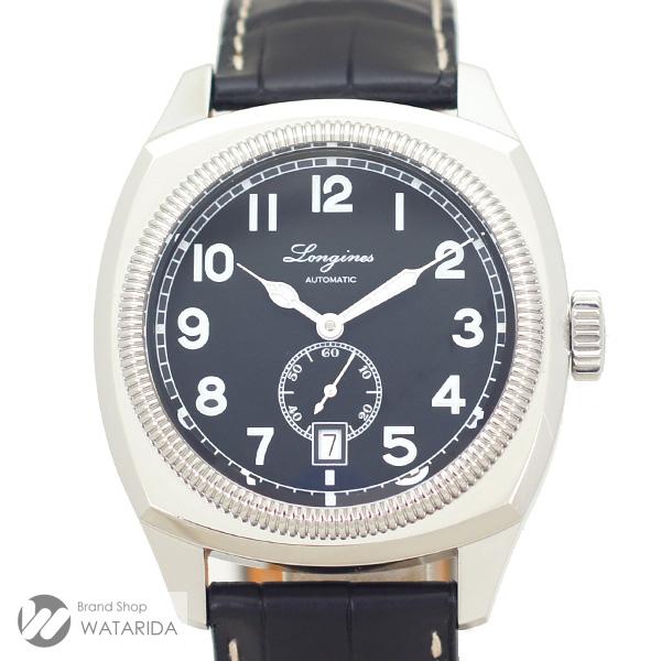 川崎の質屋 渡田質店 ロンジン LONGINES 腕時計 ヘリテージ 1935 L2.794.4.53.0 SS 黒文字盤 箱・保付 送料無料  のご紹介です。