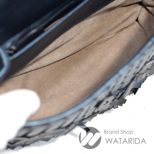 川崎の質屋 渡田質店 ボッテガ ヴェネタ BOTTEGA VENETTA バッグ イントレチャート プリューム チェーンショルダー メタリック ネイビー 保存袋付 送料無料 のご紹介です。