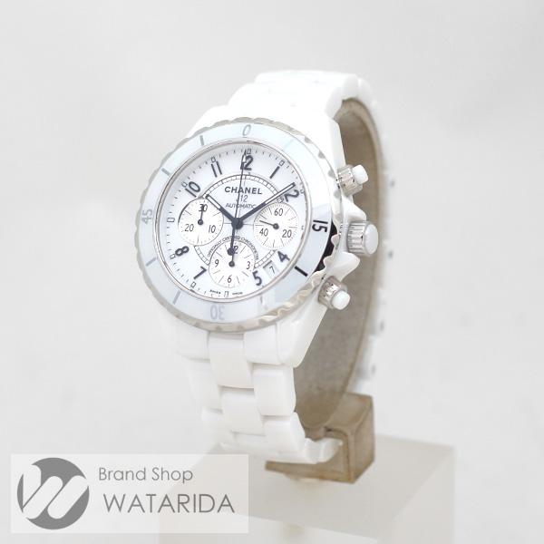 川崎の質屋 渡田質店 シャネル CHANEL 腕時計 J12 クロノグラフ H1007 白文字盤 ケース付 のご紹介です。