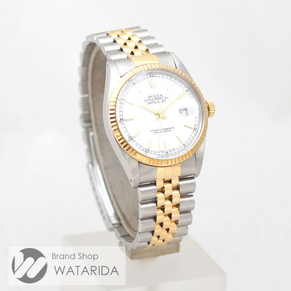 川崎の質屋 渡田質店 ロレックス ROLEX 腕時計 デイトジャスト 16013 8番台 SS YG 白文字盤 箱・保・国際サービス保証書付 送料無料 のご紹介です。