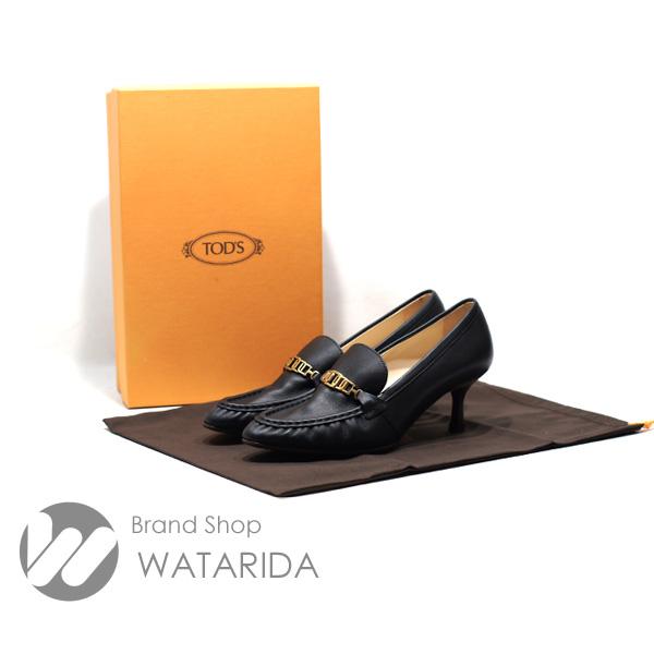 川崎の質屋 渡田質店 TOD'S トッズ パンプス レザー XXW09D0EC80MIDB999 38 25cm ブラック 箱・保存袋付 送料無料 のご紹介です。